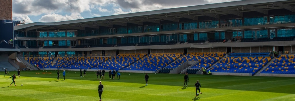 AFC Wimbledon make their first appearance at their new Plough Lane home