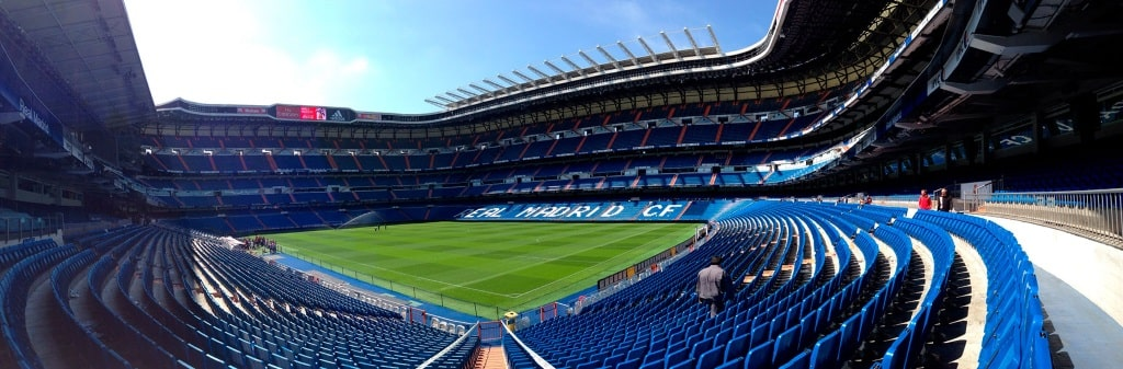 Real Madrid's famous Estadio Santiago Bernabeu