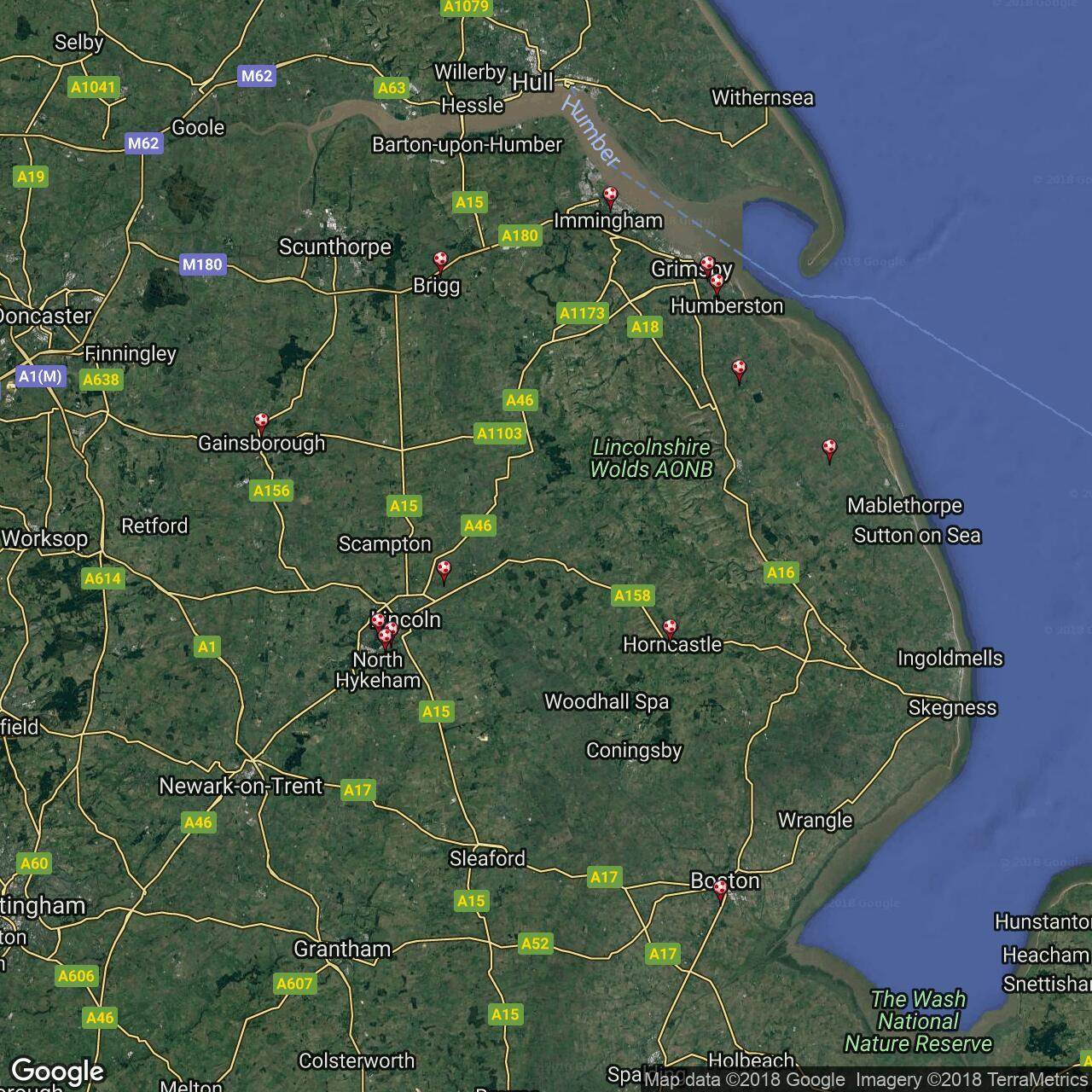 Map Of England Lincolnshire.Lincolnshire Football League Football Grounds In England Football