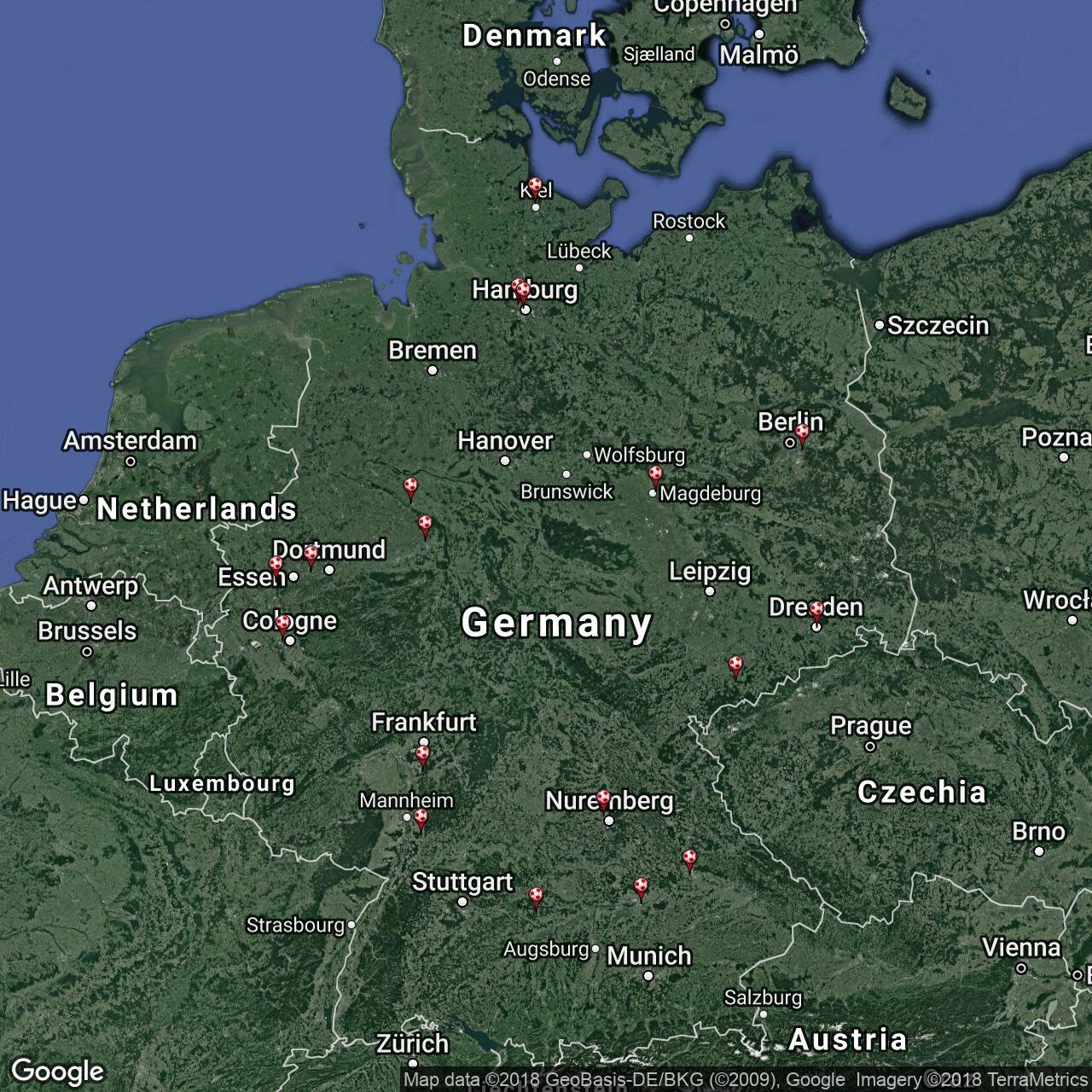 2 Bundesliga Football Grounds In Germany Football Ground Map