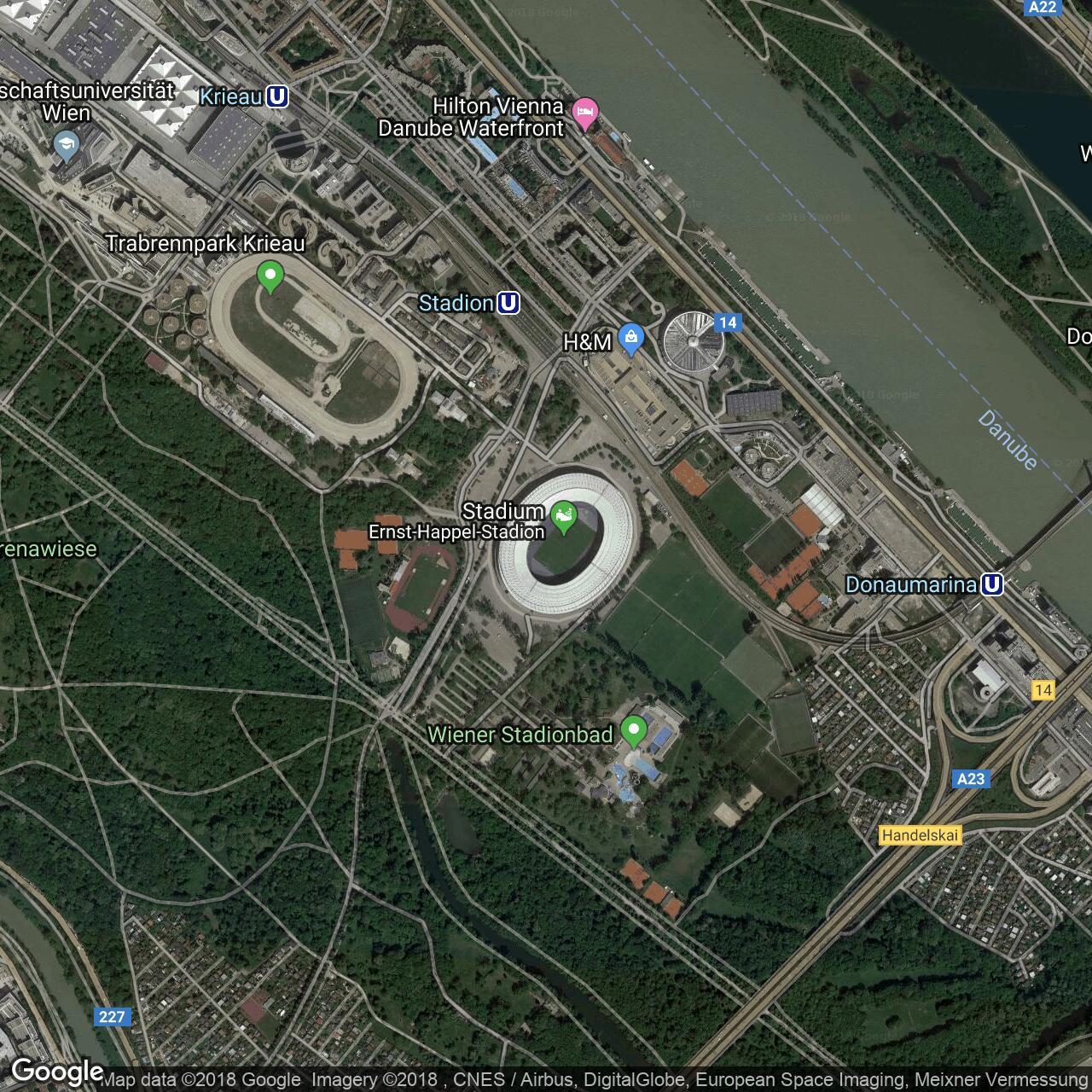 Ernst Happel Stadion Home To Austria Rapid Vienna Football