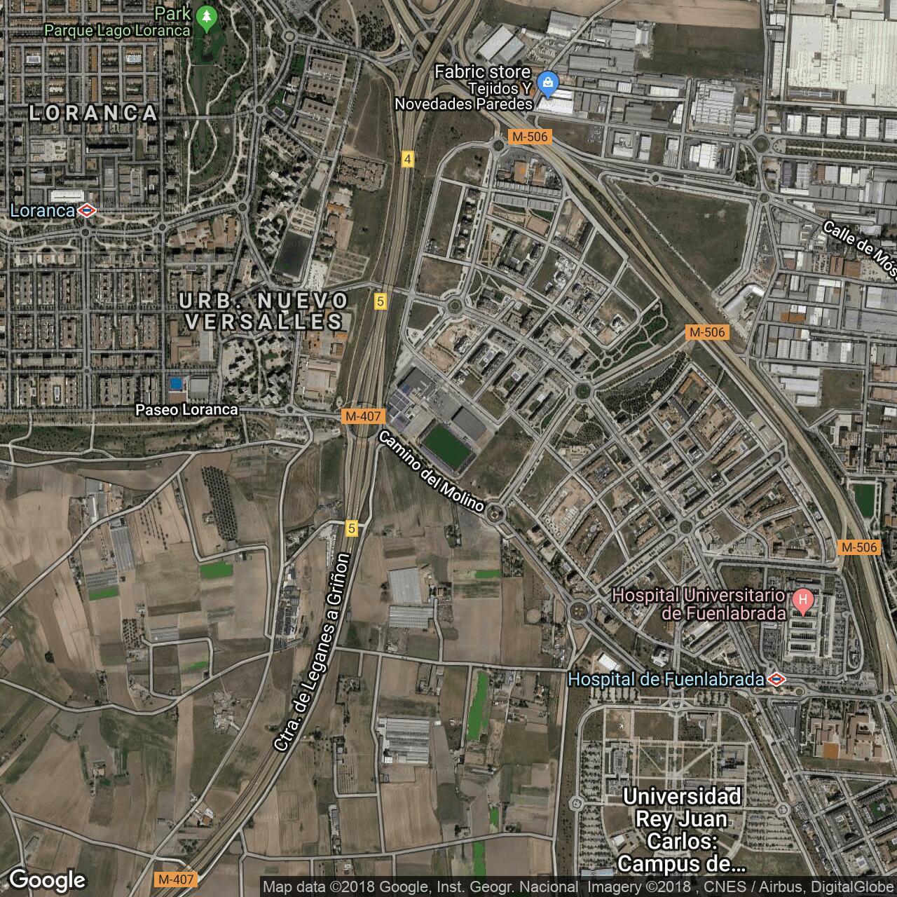 Estadio Fernando Torres Home To Fuenlabrada Football Ground Map