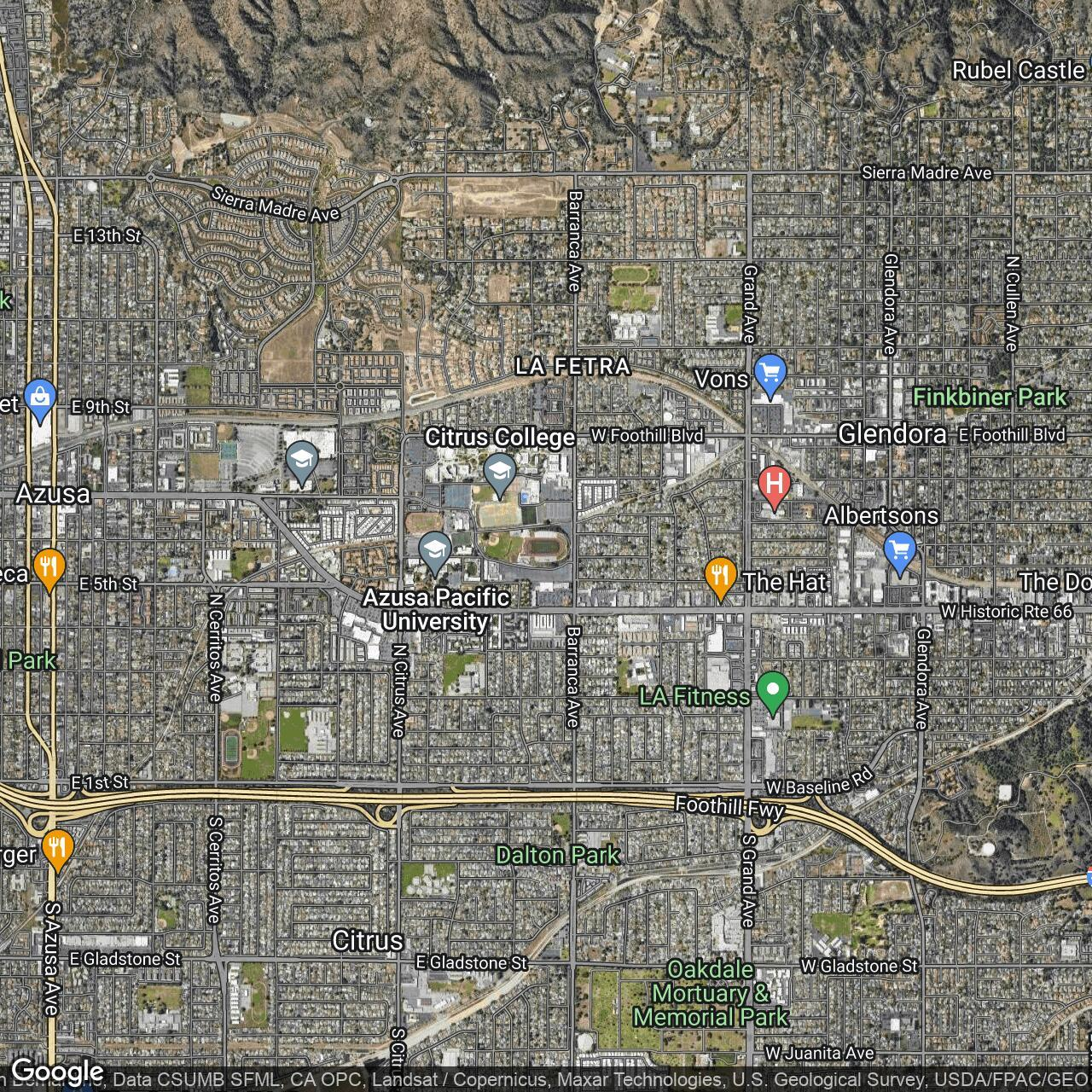 Citrus College Map on
