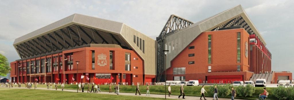Liverpool showcase new designs for Anfield Road rebuild