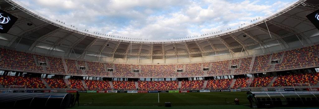 New Argentine stadium hosts first match