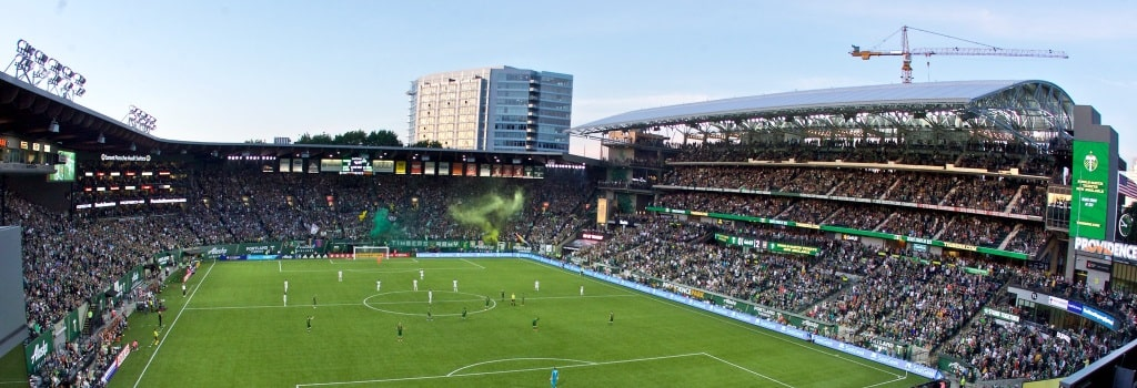 Portland Timbers open new stand at Providence Park