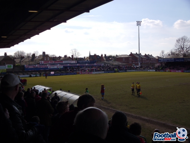 A photo of Bootham Crescent uploaded by smithybridge-blue
