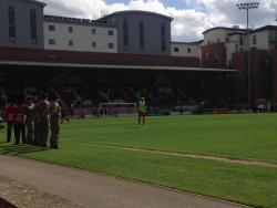 An image of Brisbane Road (Breyer Group Stadium) uploaded by smiffeeyido93
