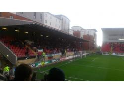 An image of Brisbane Road (Breyer Group Stadium) uploaded by ccfc4life