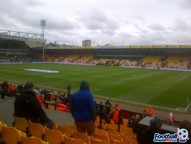 A photo of Carrow Road uploaded by DanEFC98