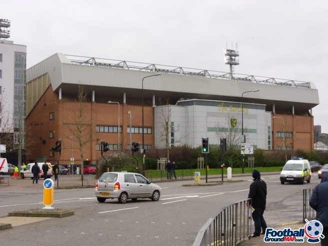A photo of Carrow Road uploaded by smithybridge-blue