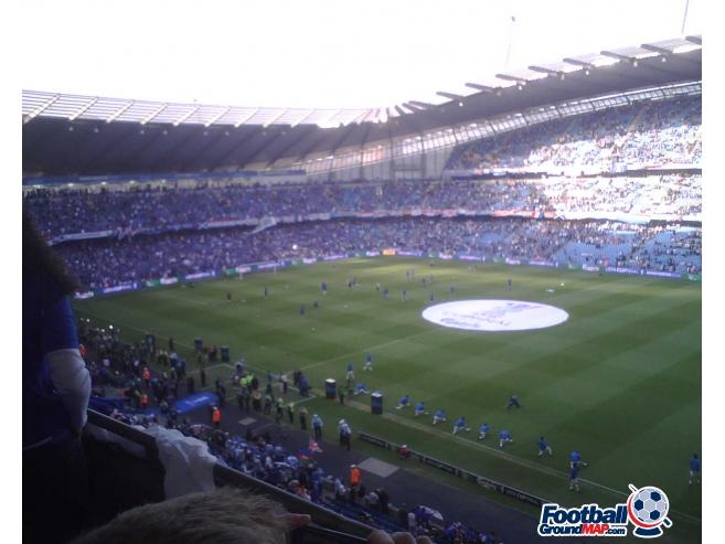 A photo of Etihad Stadium uploaded by dannyptfc