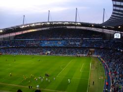 An image of Etihad Stadium uploaded by smithybridge-blue