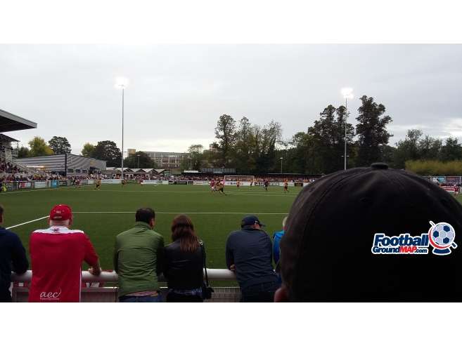 A photo of Gallagher Stadium uploaded by paulgriffiths