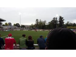 An image of Gallagher Stadium uploaded by paulgriffiths