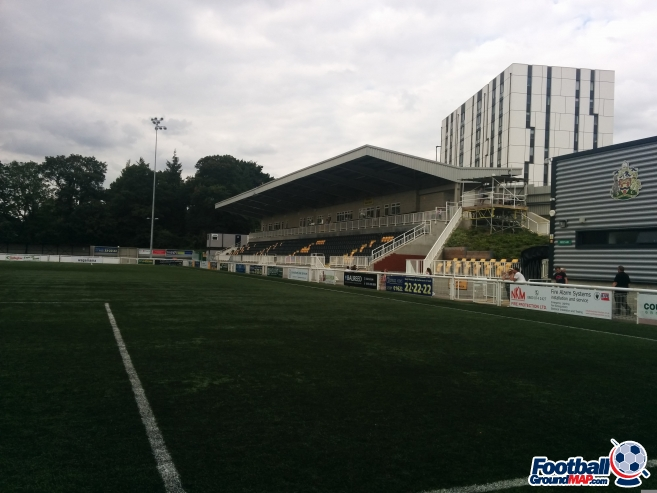 A photo of Gallagher Stadium uploaded by matttheox