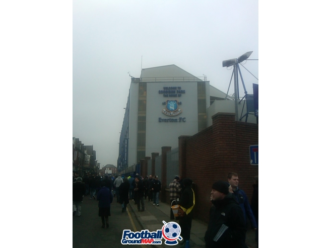 A photo of Goodison Park uploaded by dannyptfc