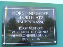 Horst Neuhoff Sportplatz an der Hauptstrasse