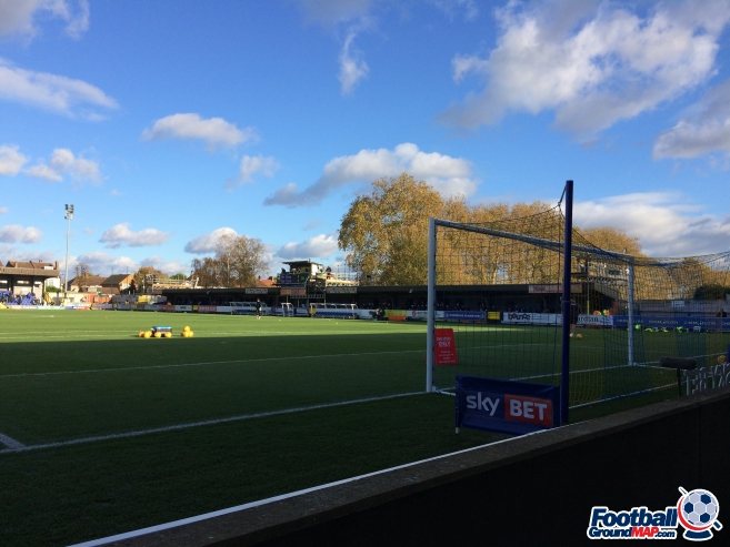 A photo of Kingsmeadow (Cherry Red Records Stadium) uploaded by neal