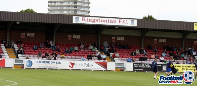 A photo of Kingsmeadow (Cherry Red Records Stadium) uploaded by facebook-user-69783