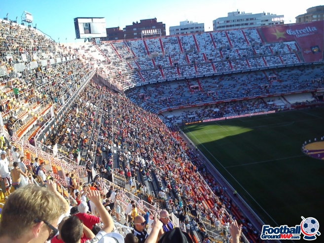 A photo of Mestalla uploaded by paulo11smith