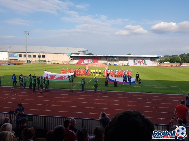 A photo of Newport Stadium uploaded by grifftinfoilhat