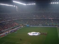 An image of San Siro (Stadio Giuseppe Meazza) uploaded by mikethedee