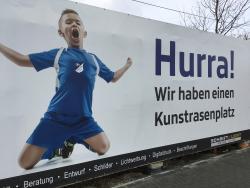 Sportplatz am Rennbahnweg - neuer Kustrasenplatz