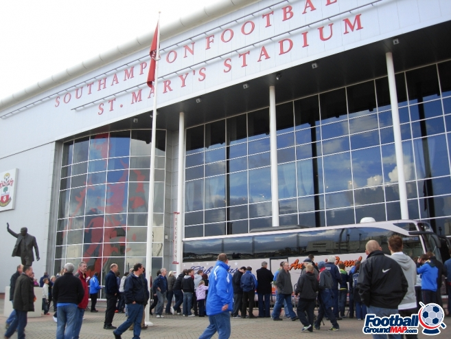 A photo of St Mary's Stadium uploaded by saintshrew