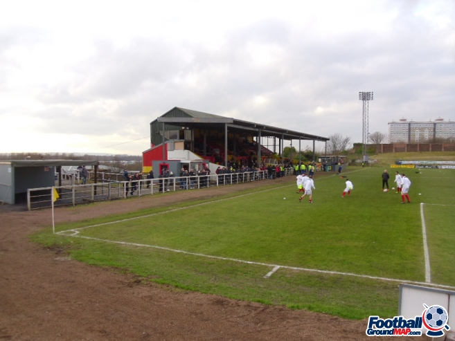 A photo of The Cliftonhill Stadium uploaded by smithybridge-blue