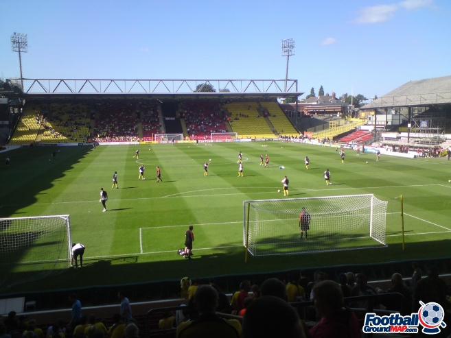 A photo of Vicarage Road uploaded by biscuitman88