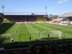 An image of Vicarage Road uploaded by biscuitman88