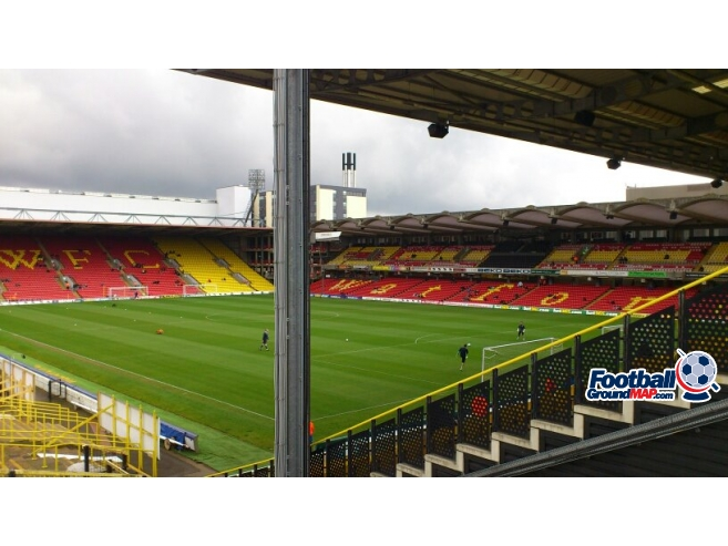A photo of Vicarage Road uploaded by ccfc4life