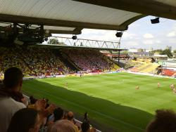 An image of Vicarage Road uploaded by facebook-user-85885