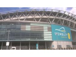 An image of Wembley Stadium uploaded by adie
