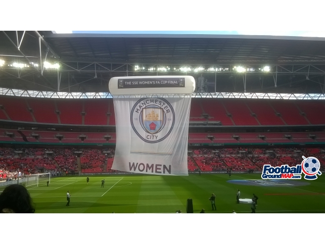 A photo of Wembley Stadium uploaded by adie