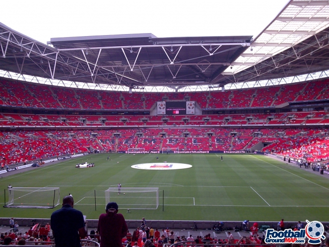 A photo of Wembley Stadium uploaded by calumlaing