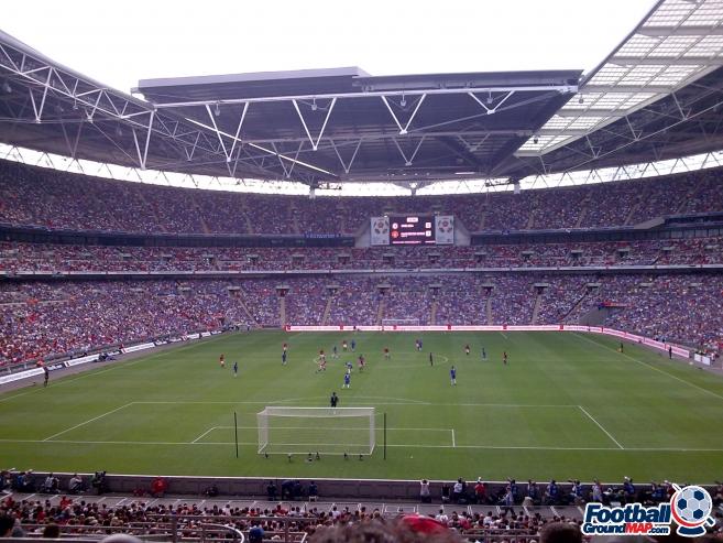 A photo of Wembley Stadium uploaded by calumlaing