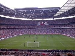 An image of Wembley Stadium uploaded by calumlaing