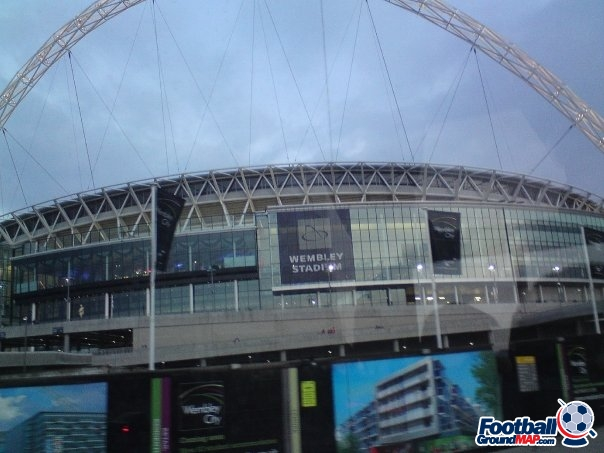 A photo of Wembley Stadium uploaded by chorleyclaret