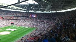 An image of Wembley Stadium uploaded by facebook-user-46612