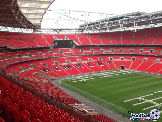 A photo of Wembley Stadium uploaded by facebook-user-100186