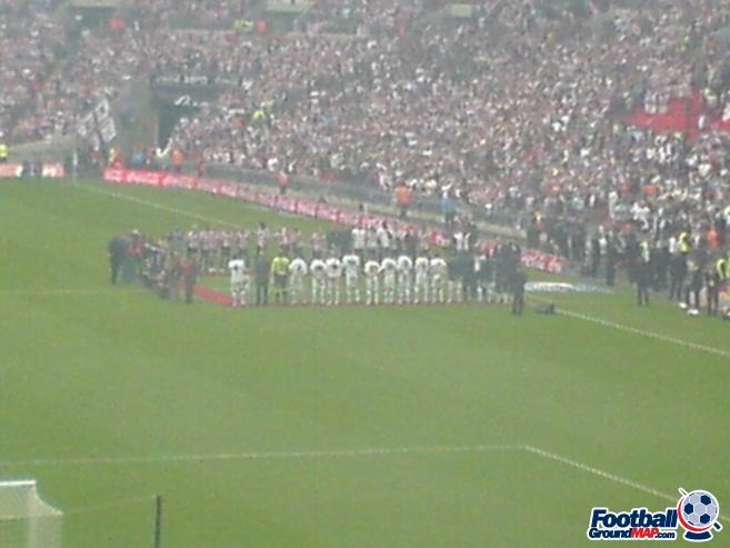 A photo of Wembley Stadium uploaded by marcjbrine