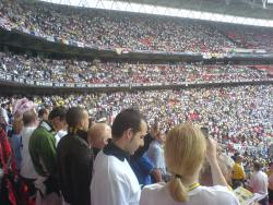 An image of Wembley Stadium uploaded by marcjbrine