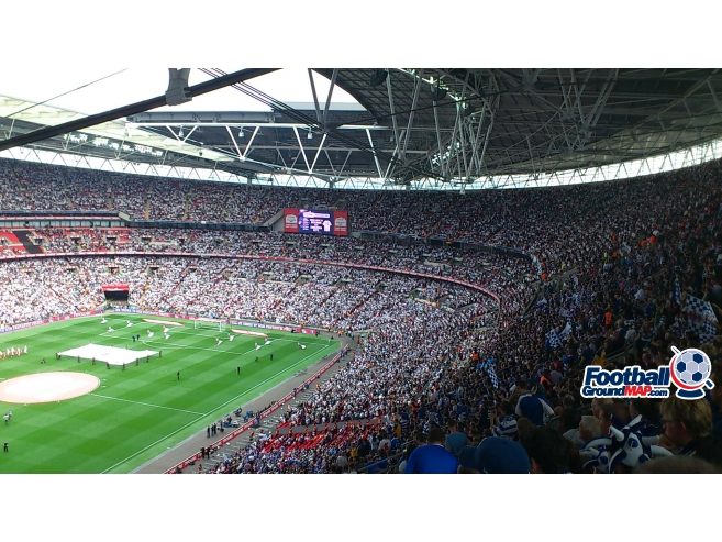 A photo of Wembley Stadium uploaded by biscuitman88