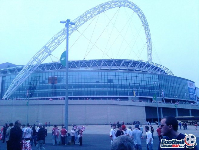 A photo of Wembley Stadium uploaded by facebook-user-75535