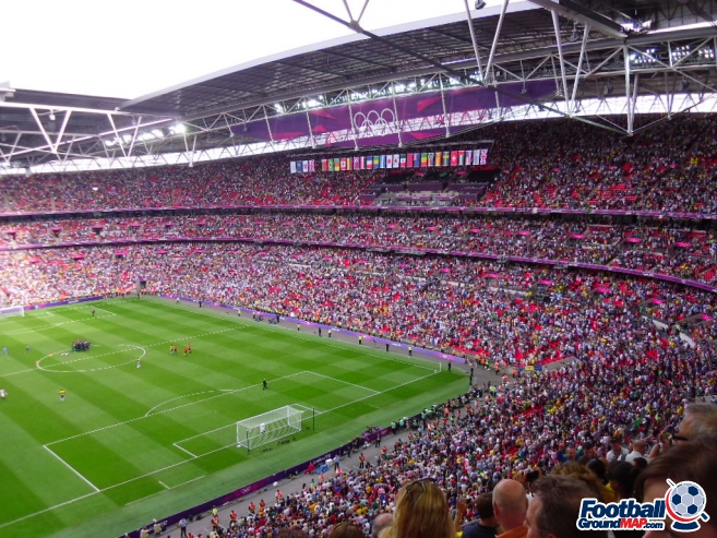 A photo of Wembley Stadium uploaded by smithybridge-blue