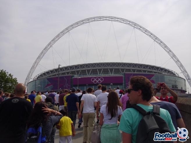 A photo of Wembley Stadium uploaded by smithybridge-blue
