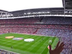 An image of Wembley Stadium uploaded by smithybridge-blue