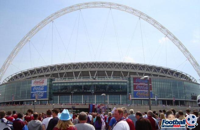 A photo of Wembley Stadium uploaded by facebook-user-26454